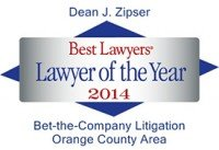 Dean J. Zipser - Best Lawyers Lawyer of the Year 2014