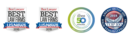 Best Lawyers - Best Law Firms - U.S. News - 2015, 2016 - The Civic 50 - 2018, Top 100 - 2018